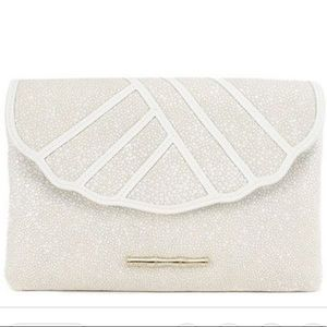 Elaine Turner Izzy Caviar Pebbled Leather Clutch